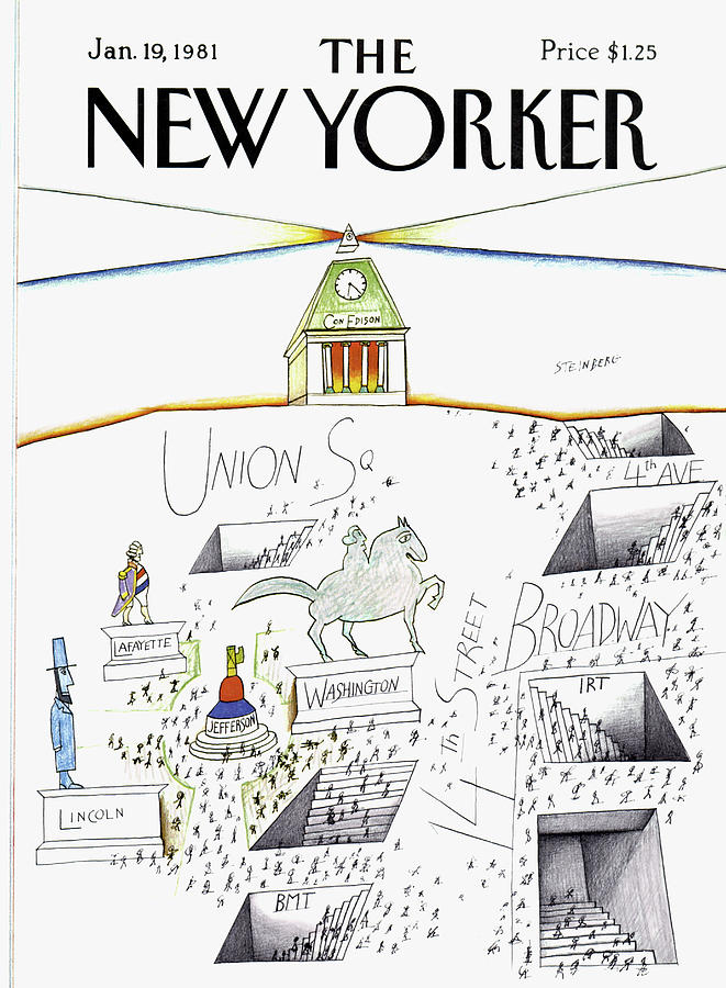New Yorker January 19th, 1981 Painting by Saul Steinberg