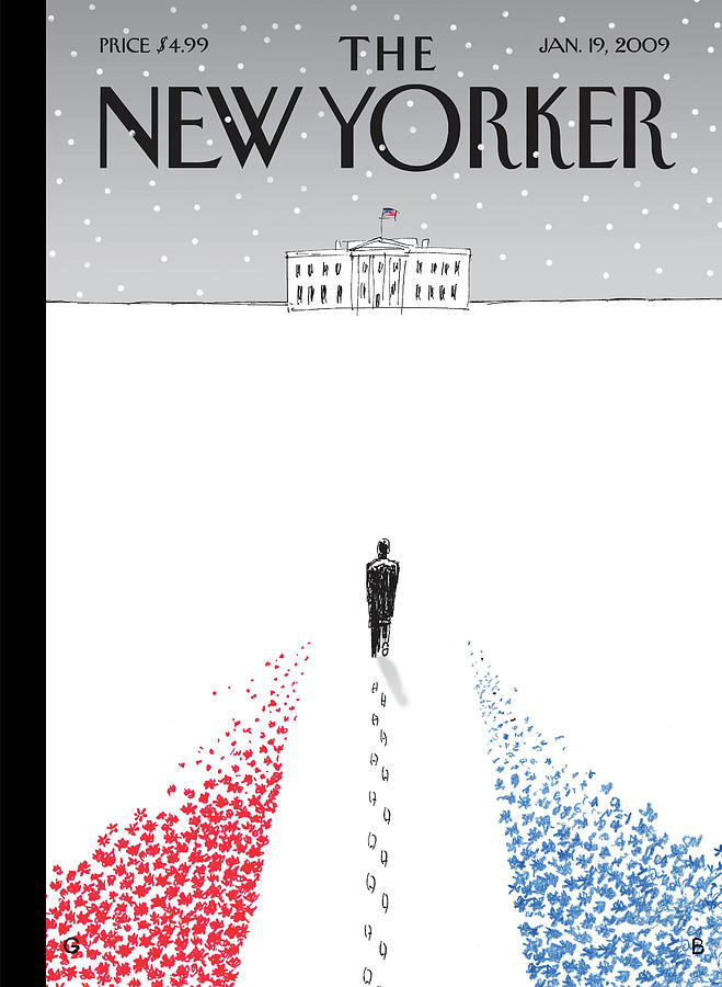 New Yorker January 19th, 2009 Painting by Guy Billout