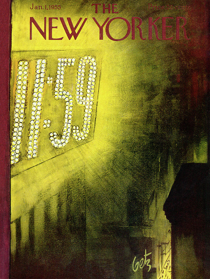 New Year Painting - New Yorker January 1st, 1955 by Arthur Getz