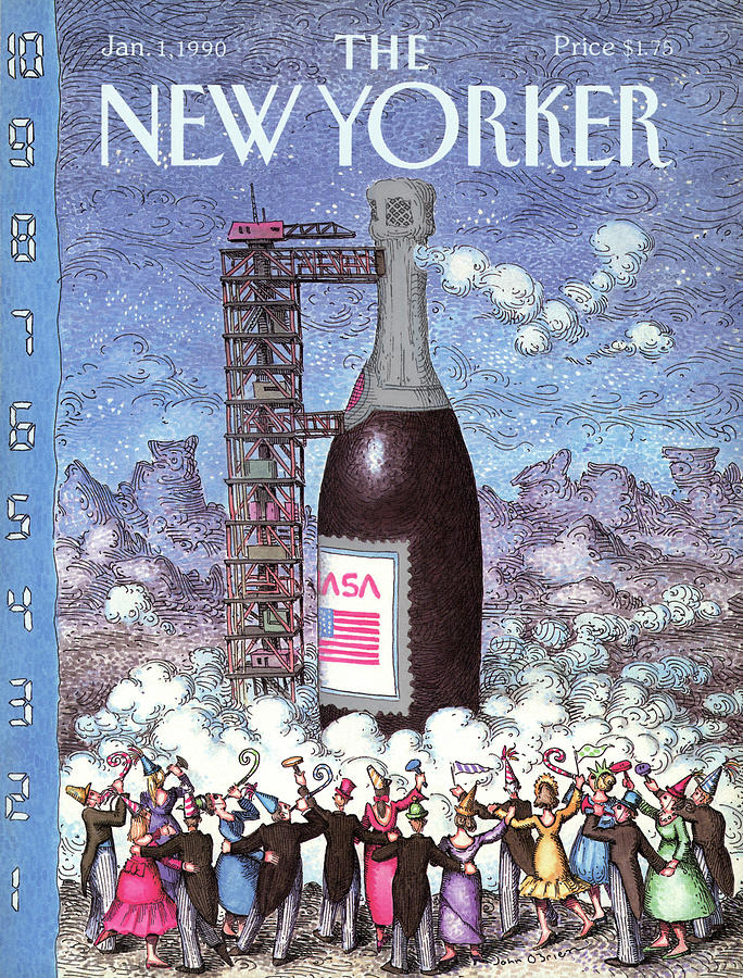 New Yorker January 1st, 1990 Painting by John OBrien