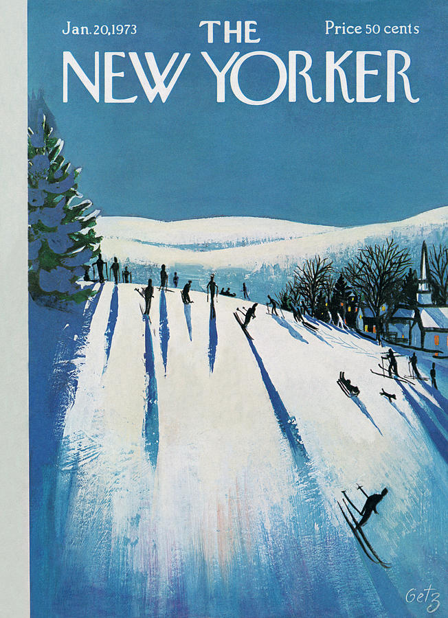 Snow Painting - New Yorker January 20th, 1973 by Arthur Getz