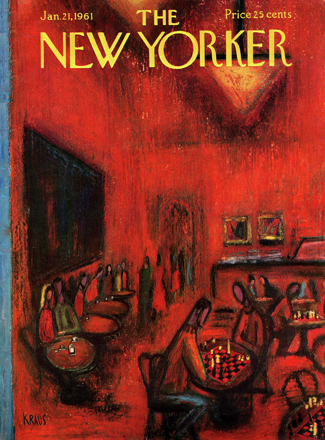 New Yorker January 21st, 1961 Painting by Robert Kraus