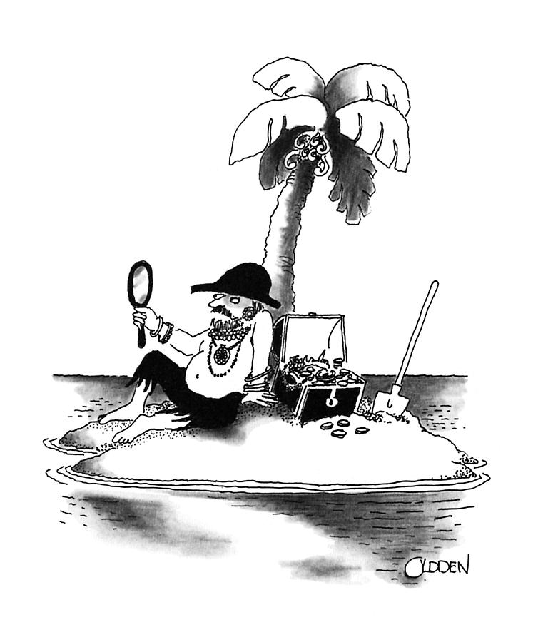 Riches Drawing - New Yorker January 21st, 1991 by Richard Oldden
