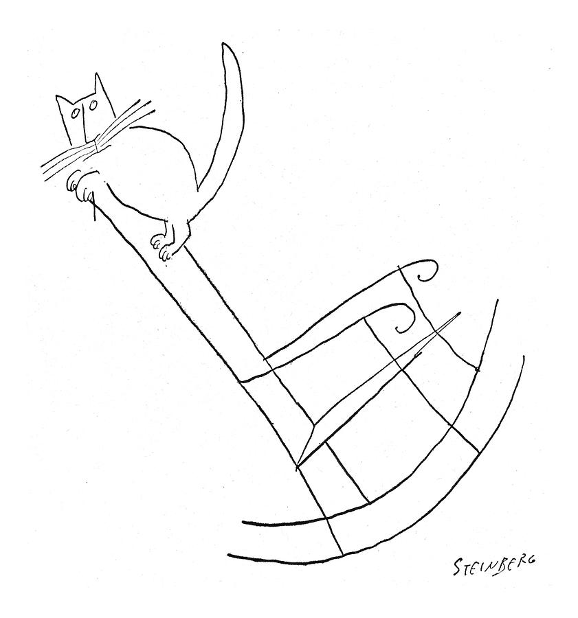 New Yorker January 23rd, 1954 Drawing by Saul Steinberg