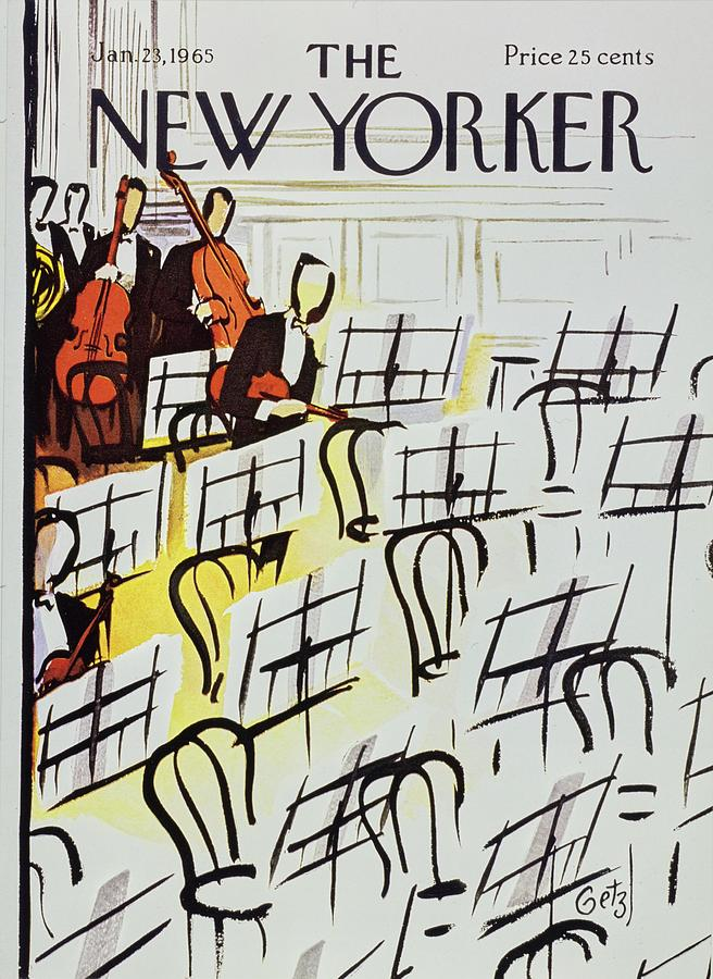 New Yorker January 23rd 1965 Painting by Arthur Getz