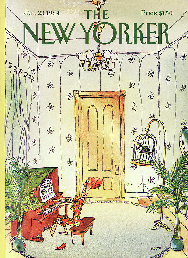 New Yorker January 23rd, 1984 Painting by George Booth