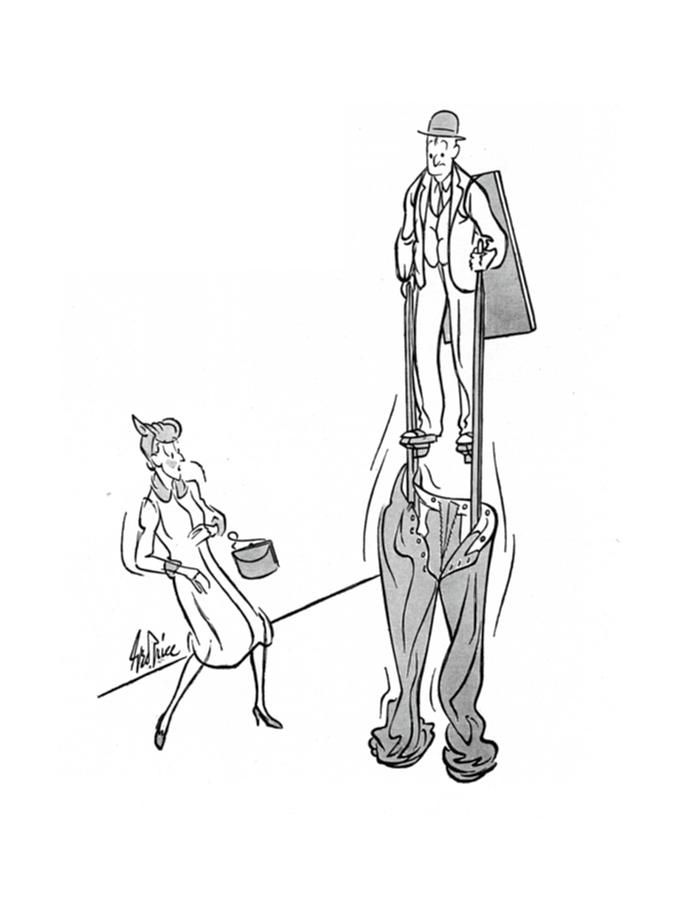 New Yorker January 25th, 1941 Drawing by George Price