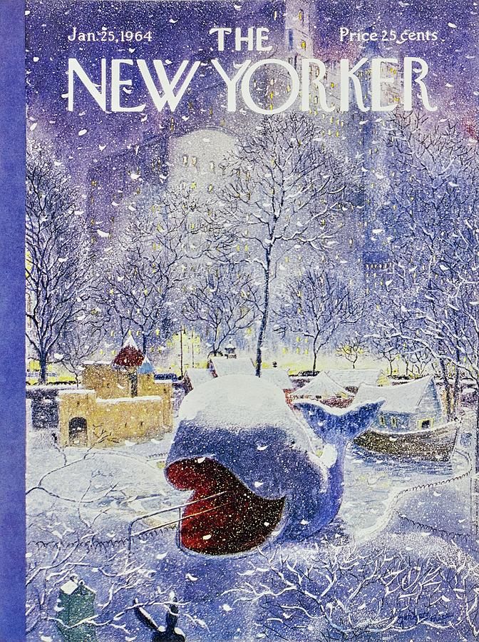 New Yorker January 25th 1964 Painting by Garrett Price
