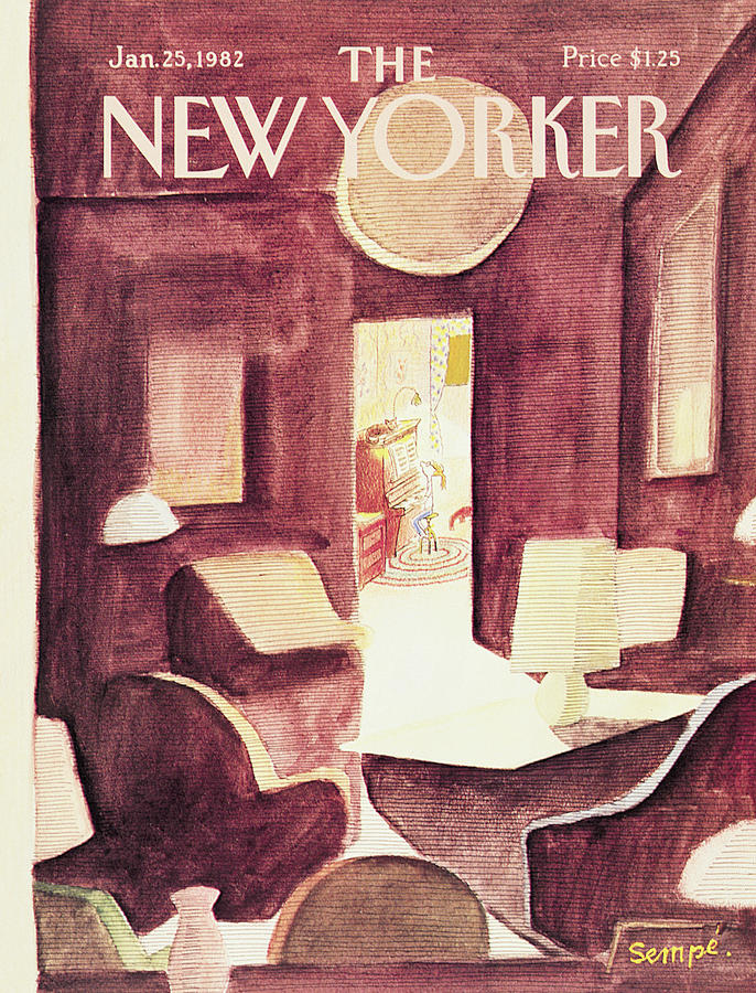 New Yorker January 25th, 1982 Painting by Jean-Jacques Sempe