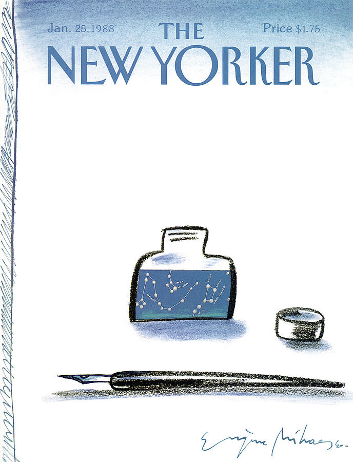 New Yorker January 25th, 1988 Painting by Eugene Mihaesco
