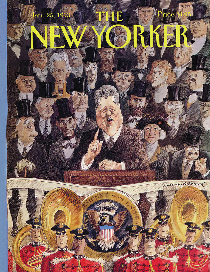 New Yorker January 25th, 1993 Painting by Edward Sorel