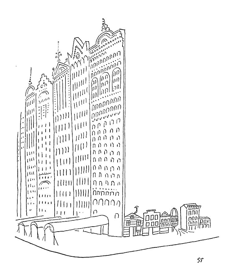 New Yorker January 26th, 1952 Drawing by Saul Steinberg