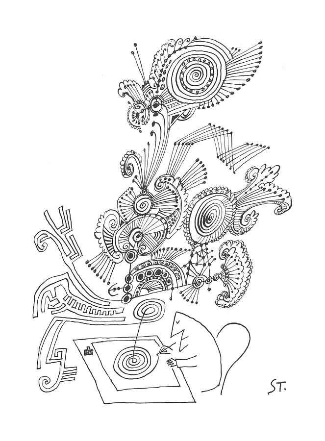 New Yorker January 26th, 1963 Drawing by Saul Steinberg