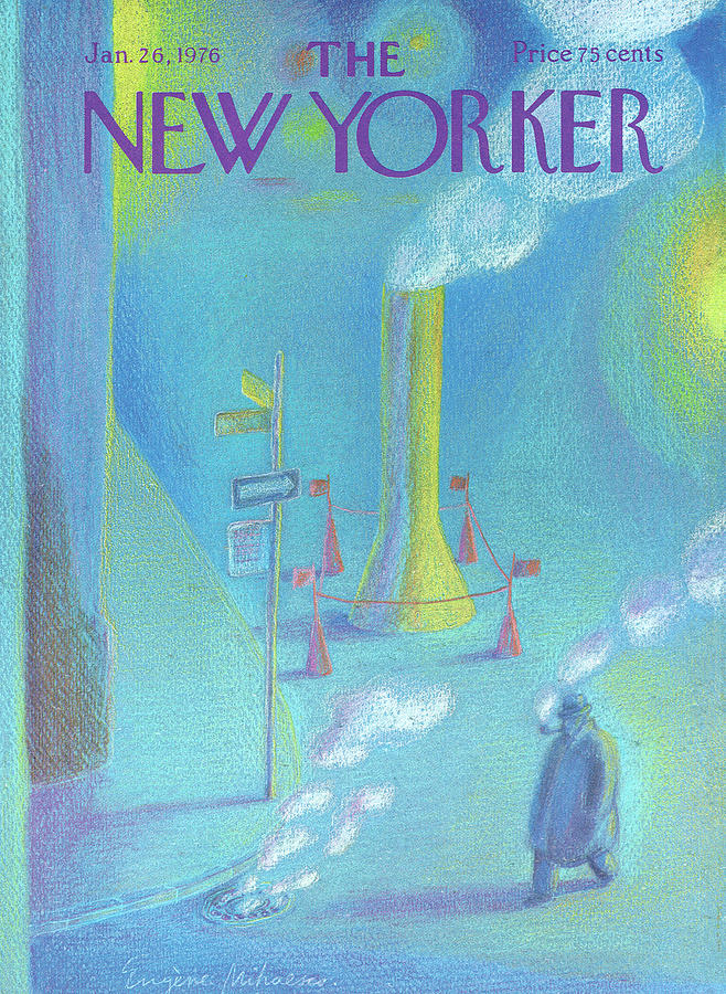 New Yorker January 26th, 1976 Painting by Eugene Mihaesco