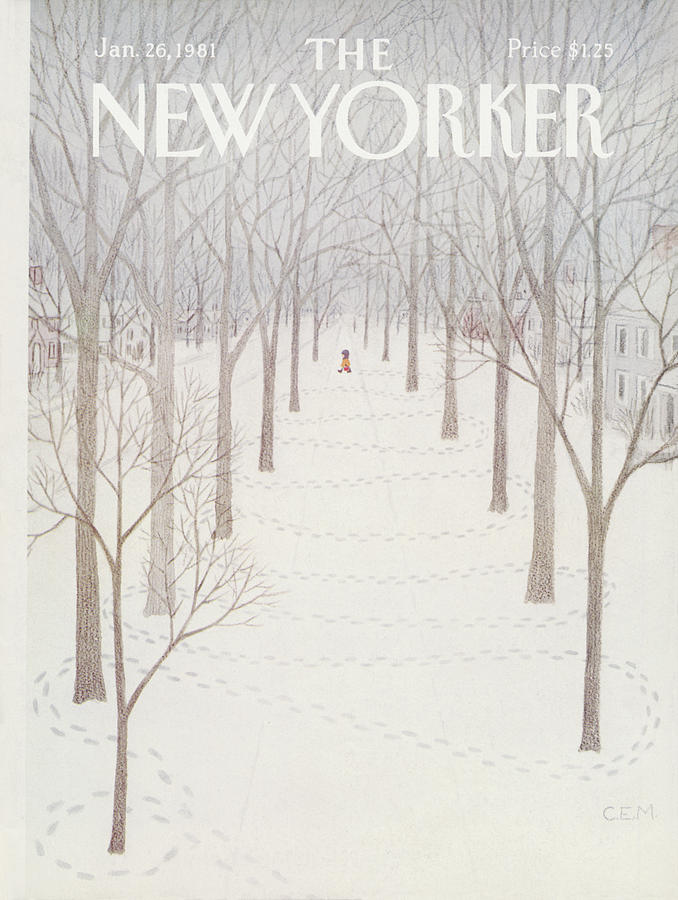New Yorker January 26th, 1981 Painting by Charles E Martin