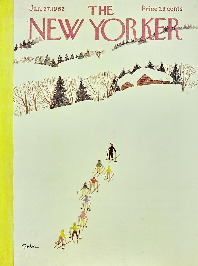 New Yorker January 27th 1962 Painting by Susanne Suba