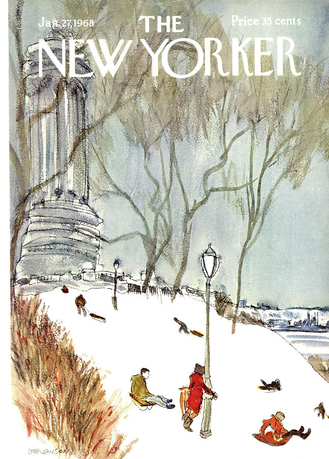 New Yorker January 27th, 1968 Painting by James Stevenson