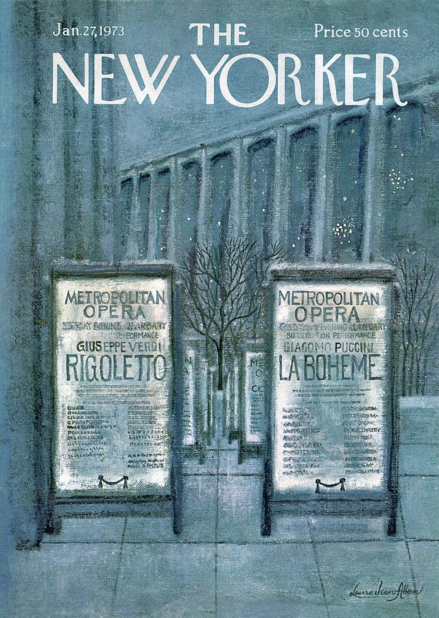 New Yorker January 27th, 1973 Painting by Laura Jean Allen