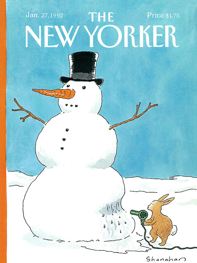 New Yorker January 27th, 1992 Painting by Danny Shanahan