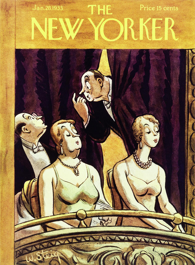New Yorker January 28 1933 Painting by William Steig