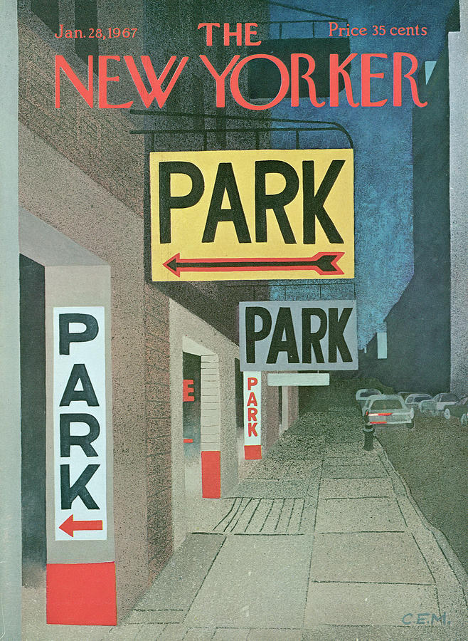 New Yorker January 28th, 1967 Painting by Charles E Martin