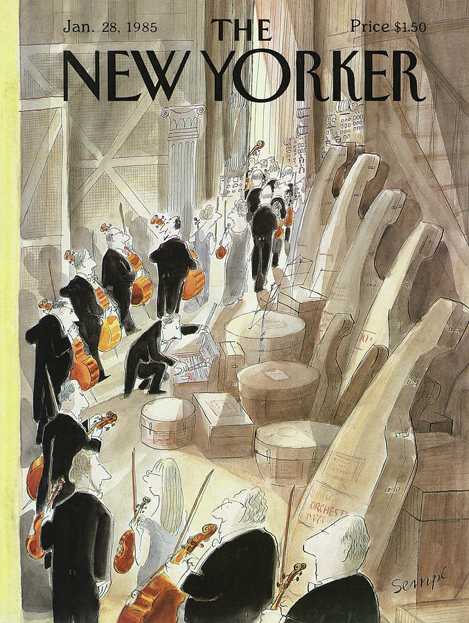 New Yorker January 28th, 1985 Painting by Jean-Jacques Sempe