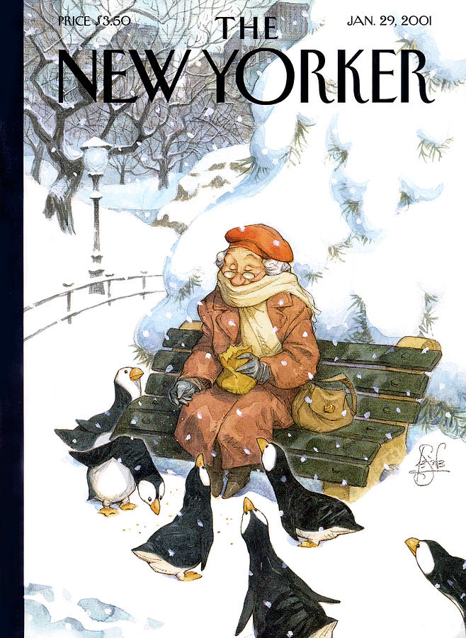New Yorker January 29th, 2001 Painting by Peter de Seve