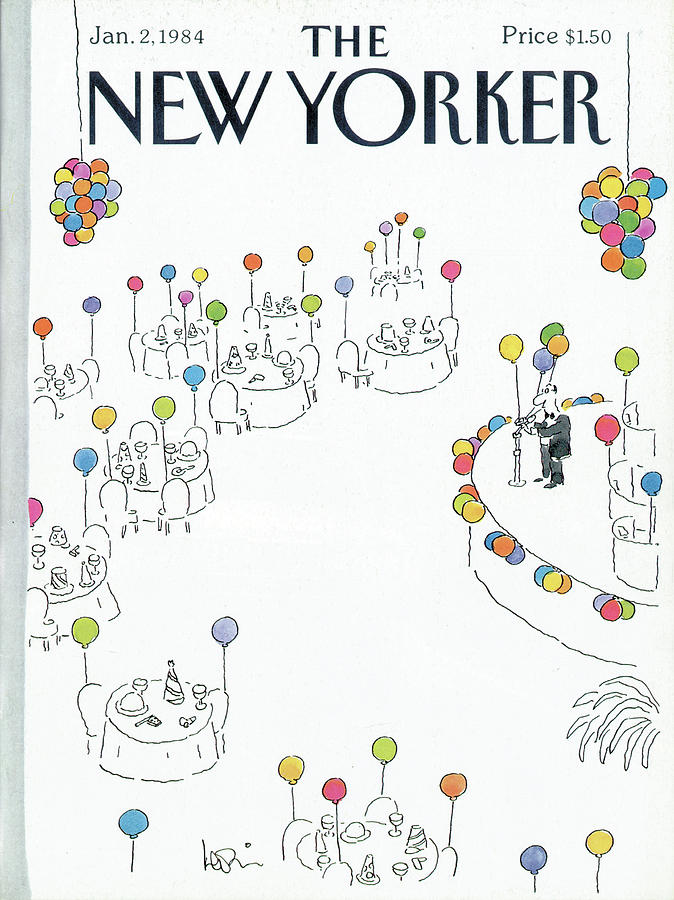 New Yorker January 2nd, 1984 Painting by Arnie Levin