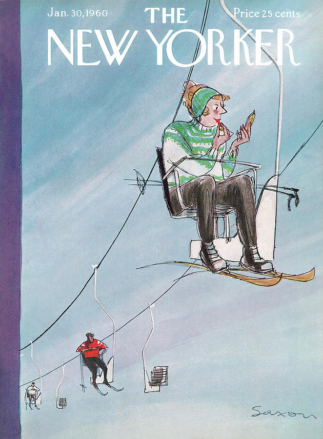 New Yorker January 30th, 1960 Painting by Charles Saxon