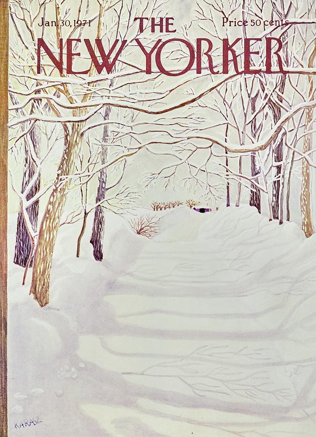 New Yorker January 30th 1971 Painting by Ilonka Karasz