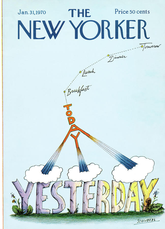 New Yorker January 31st, 1970 Painting by Saul Steinberg