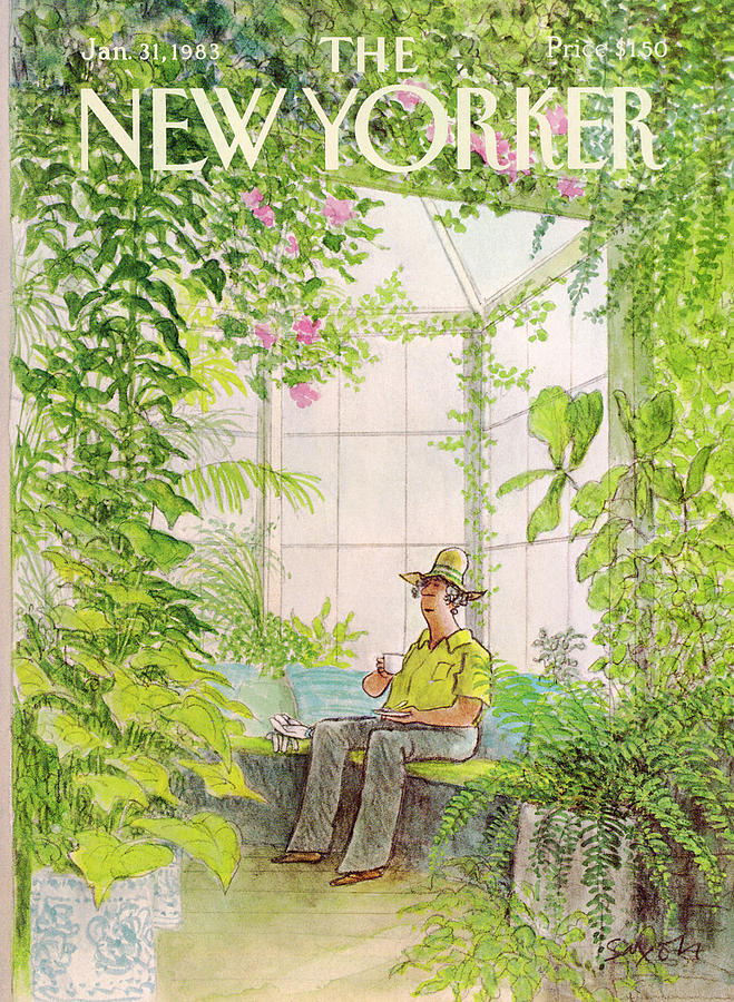 New Yorker January 31st, 1983 Painting by Charles Saxon