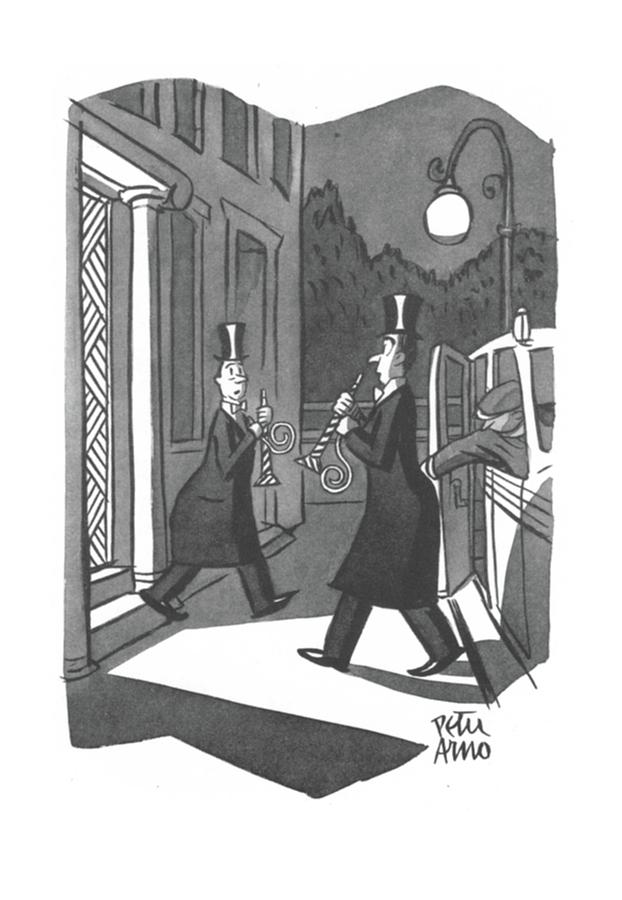 New Yorker January 3rd, 1942 Drawing by Peter Arno
