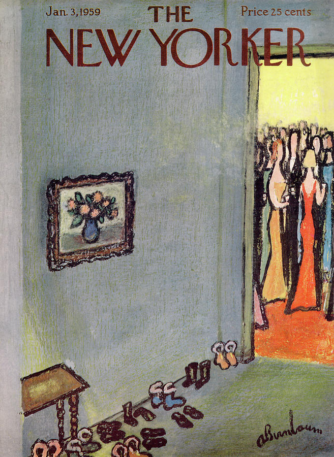 New Yorker January 3rd, 1959 Painting by Abe Birnbaum