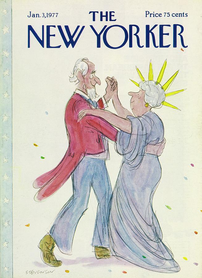 New Yorker January 3rd 1977 Painting by James Stevenson