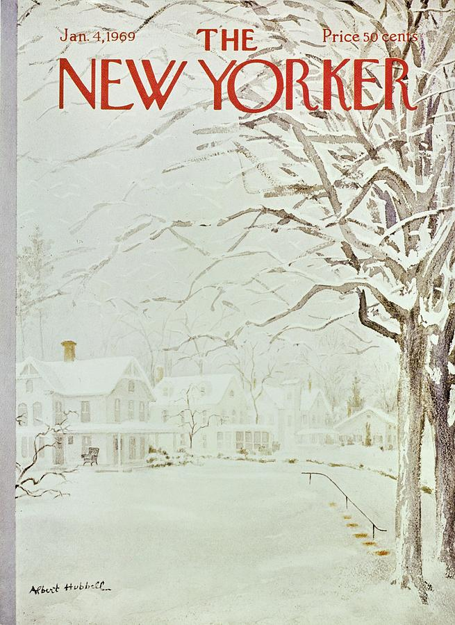 New Yorker January 4th 1969 Painting by Albert Hubbell