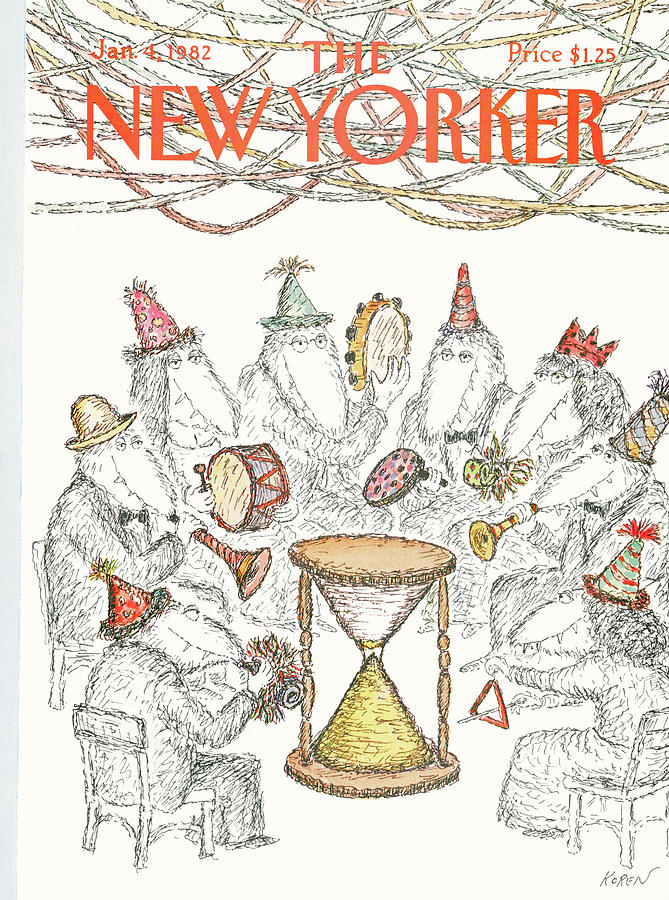 New Yorker January 4th, 1982 Painting by Edward Koren