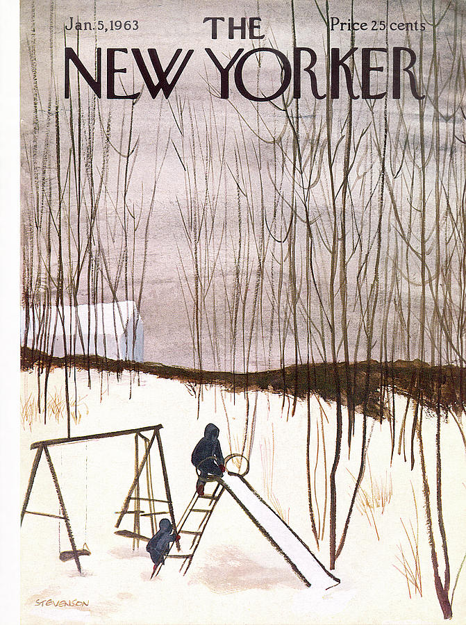 New Yorker January 5th, 1963 Painting by James Stevenson
