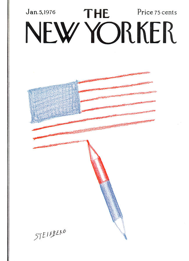 New Yorker January 5th, 1976 Painting by Saul Steinberg
