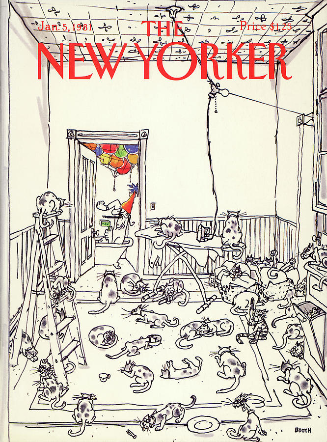 New Yorker January 5th, 1981 Painting by George Booth