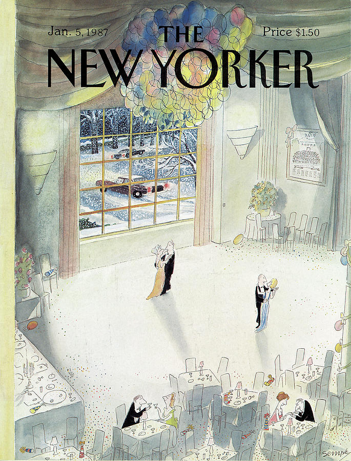 New Yorker January 5th, 1987 Painting by Jean-Jacques Sempe