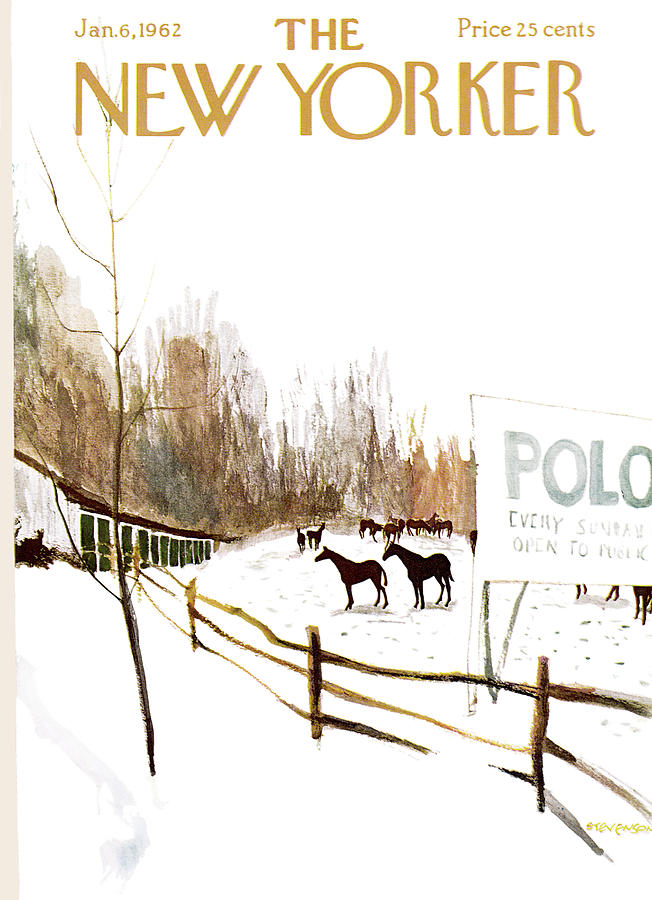 New Yorker January 6th, 1962 Painting by James Stevenson