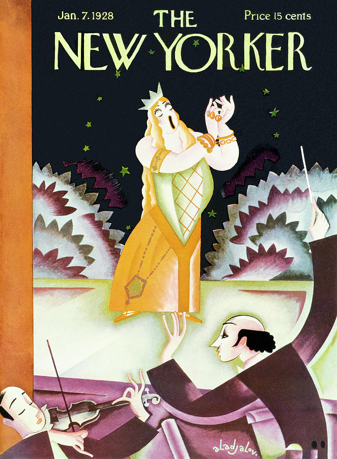 New Yorker January 7 1928 Painting by Constantin Alajalov
