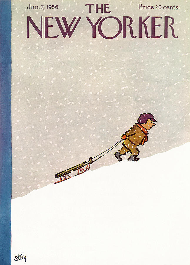 New Yorker January 7th, 1956 Painting by William Steig