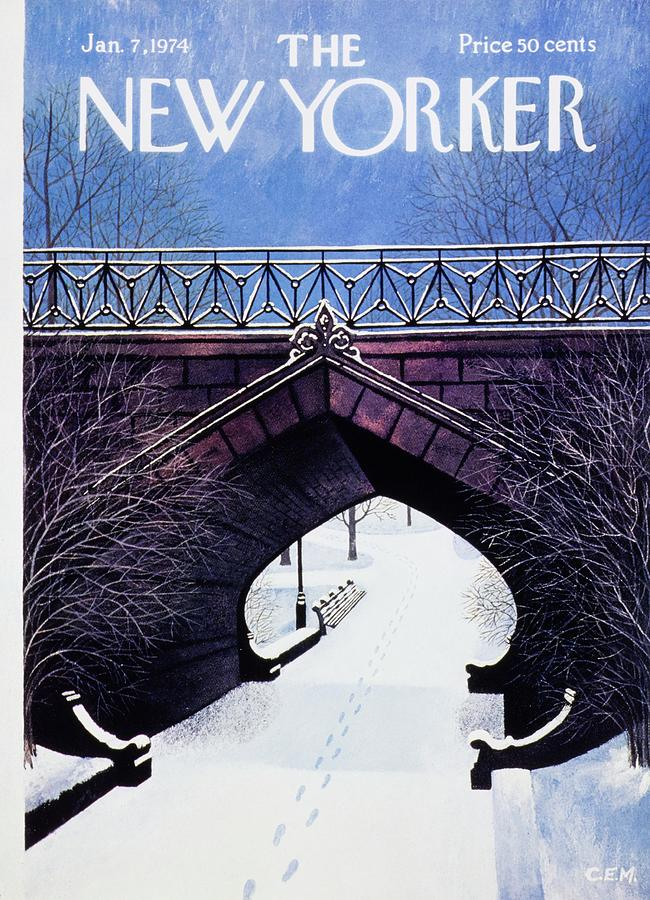 New Yorker January 7th 1974 Painting by Charles Martin