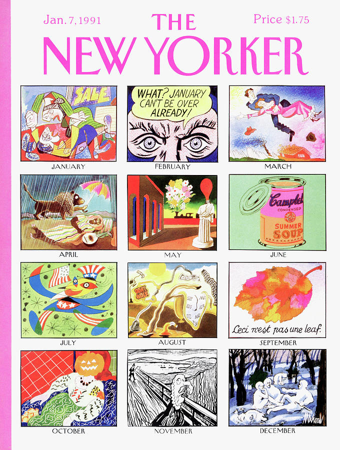 New Yorker January 7th, 1991 Painting by Kenneth Mahood