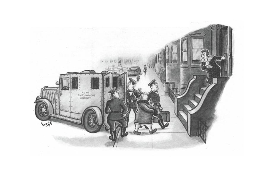 New Yorker January 8th, 1944 Drawing by Sydney Hoff