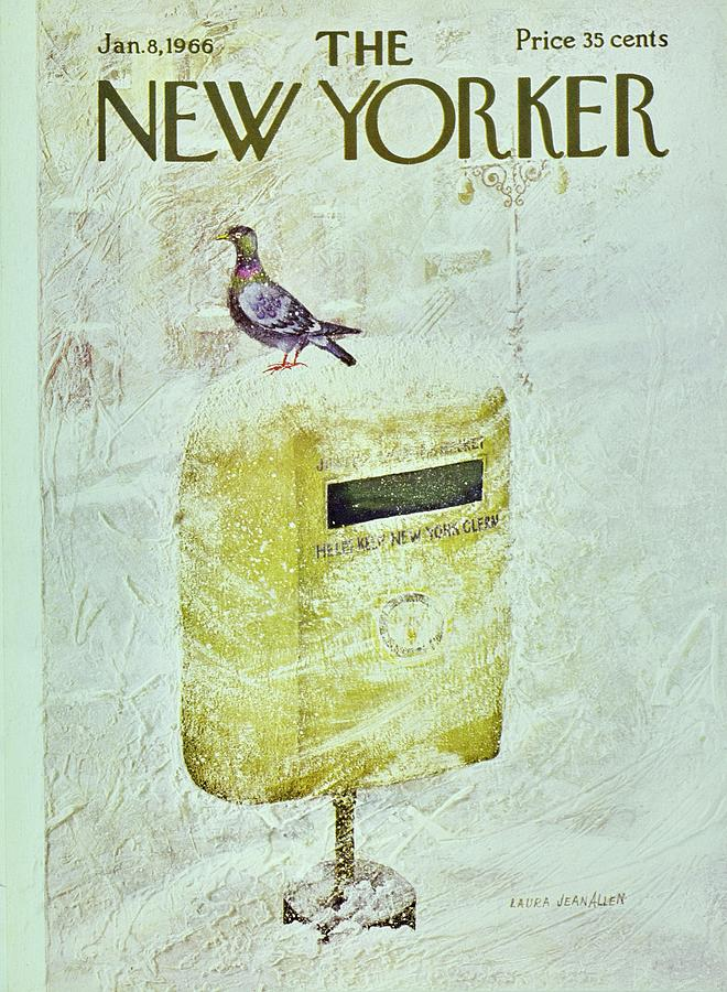 New Yorker January 8th 1966 Painting by Laura Jean Allen