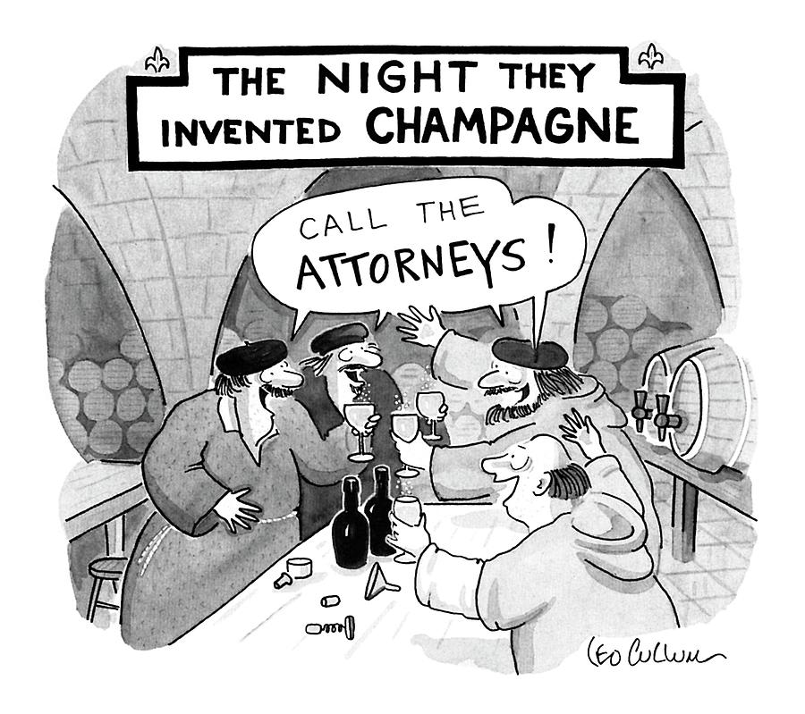 Law Drawing - New Yorker January 8th, 1990 by Leo Cullum