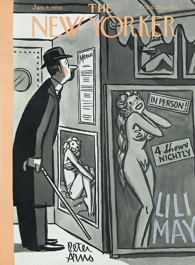 New Yorker January 9th, 1954 Painting by Peter Arno